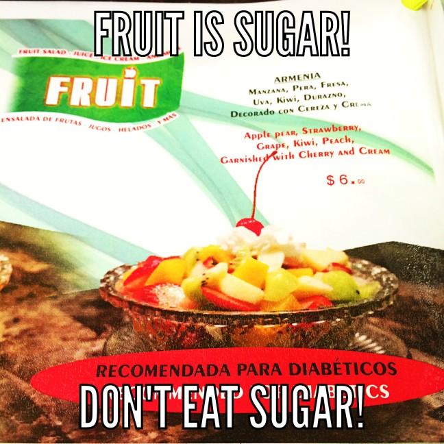don't eat sugar
